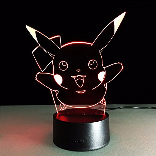 AIBULB®NEW Pokemon Go Pikachu 3D Night Light Action Figue LED Toy Lamp