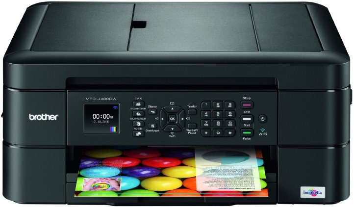 Brother MFC-J480DW - Wireless Inkjet Color All-in-One Printer w Auto Document Feeder