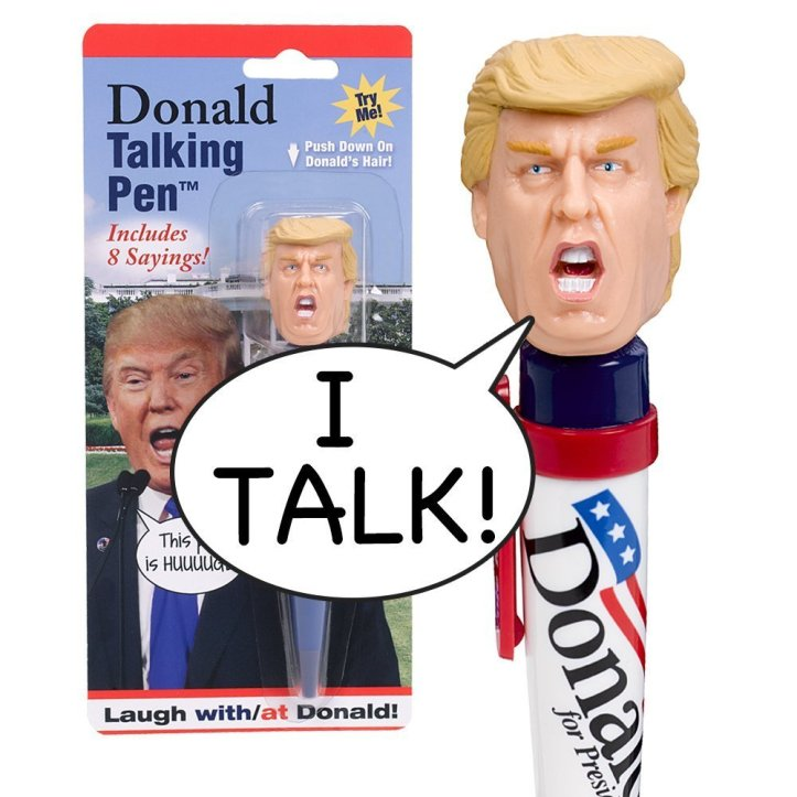Donald Talking Pen - 8 Different Sayings - Trump's REAL VOICE - Just Click and Listen