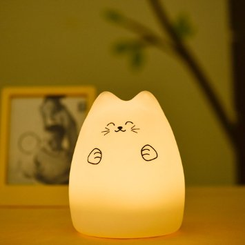 EMDMAK Baby Night Light USB Rechargeable Silicone Night Lamp