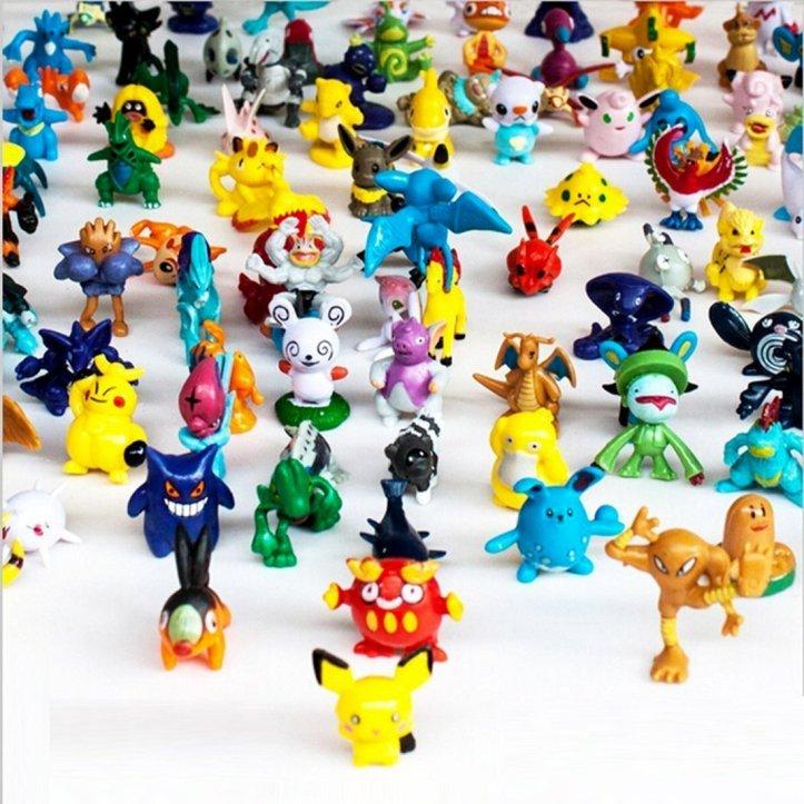 Generic 1 Complete Set Pokémon Action Figures (144 Piece)