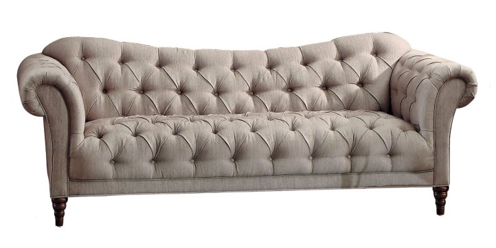 Homelegance Chesterfield Traditional Style Sofa with Tufting and Rolled Arm Design