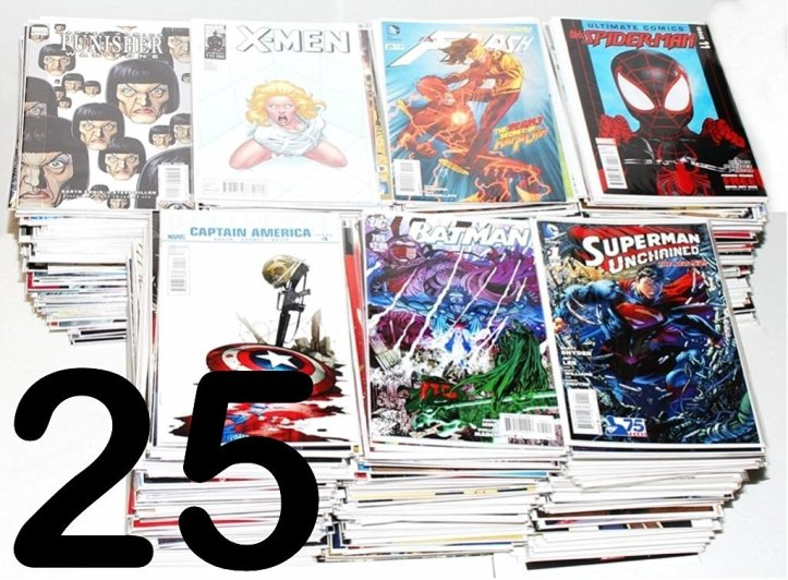 Marvel DC Various Collector Starter Set Comic Books, Pack of 25
