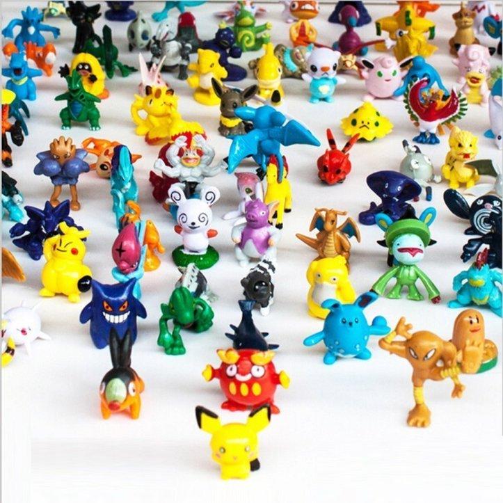 OliaDesign Pokemon Pikachu Monster Mini Action Figures Toy (Lot of 24 Piece)