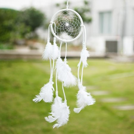 Soledi Dream Catcher Handmade Circular Net With feathers