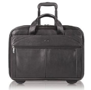 Solo Classic Collection Leather CheckFast Rolling Case