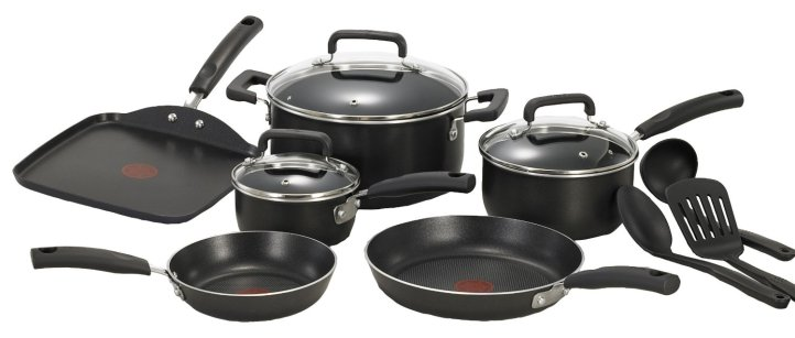 T-fal C111SC Signature Nonstick Expert Thermo-Spot Heat Indicator Dishwasher Safe Cookware Set
